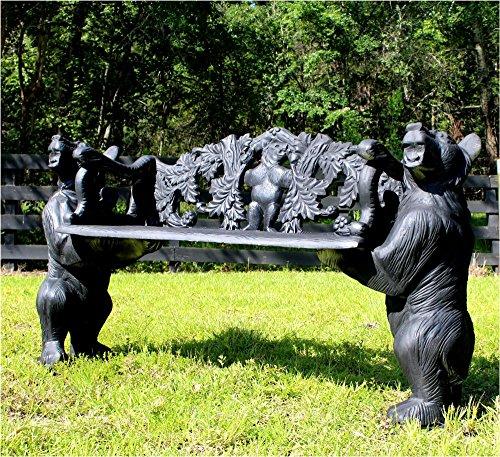 The King's Bay Black Bear or Brown Garden Bench Seat No Rust Aluminum