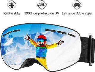 2eecc0b04d Mpow Gafas de Esquí Niños,Gafas de Nieve de Snowboard Unisex con Anti-Niebla