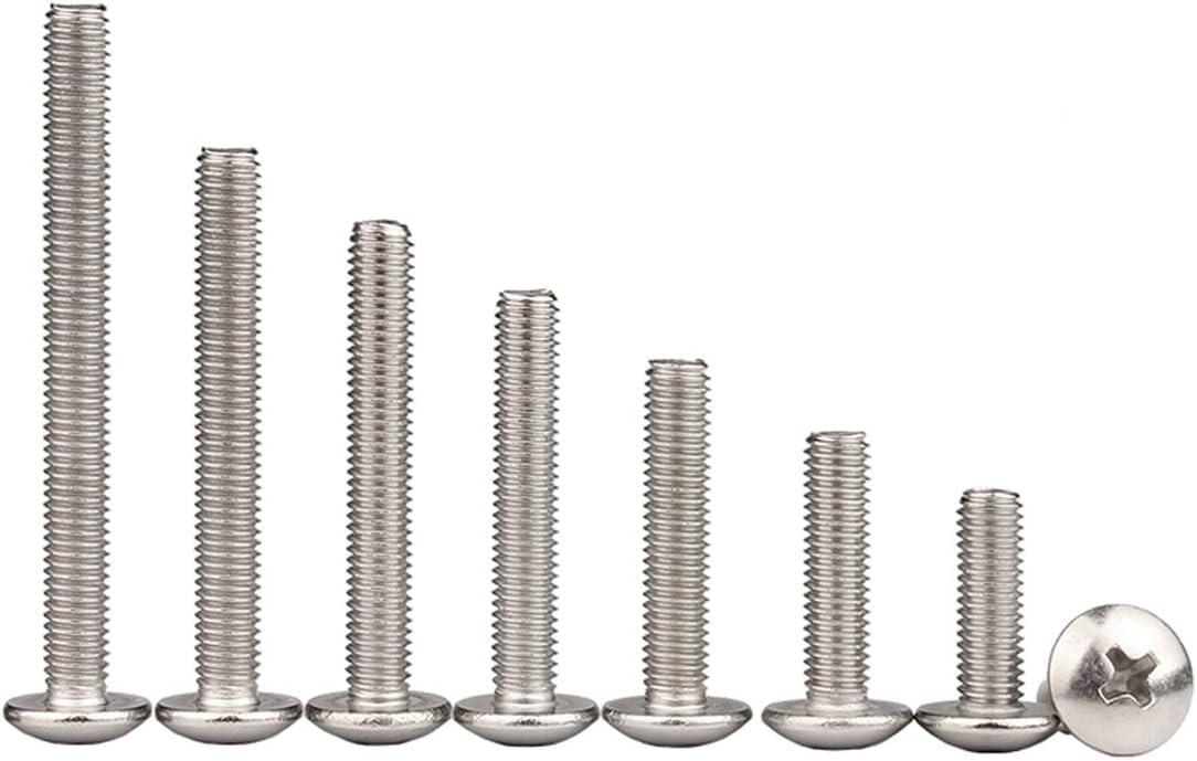 Tornillo mec/ánico M5 x 8//10//12//16//18//20//25//30//35//40//45//50mm 50 Piezas M5 x 10mm LINVINC 50//20 Piezas M5 Juego de Tornillos de Acero Inoxidable 304 Tornillos Phillips de Cabeza
