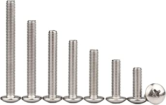 LINVINC 20 Stuks M5 304 roestvrij staal Phillips schroeven schroef lengte 8-50 mm, Mechanische schroef, Phillips Machine s...
