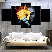 Painting Poster Modular Picture Modern 5 Board Bat Hero Man Movie Clown Canvas Print Art Frame Wall Living Room Decoration