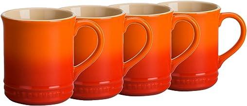 Le Creuset Stoneware Set of 4 Mugs, 14 oz. each, Flame