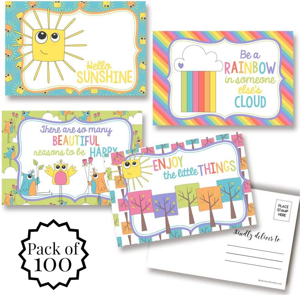 Fun Sunshine Themed Blank Mail order Arlington Mall Postcards Family Friends To Send