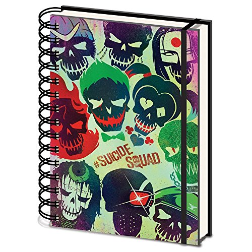 "DC Comics SR72151""Suicide Squad Skulls A5 Wiro"" Notizbuch mit Spiralbindung, Totenköpfe"