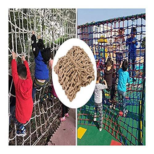 Genrics Red de seguridad para niños, decoración de cuerda de cáñamo, red de decoración para el techo, red para colgar ropa, decoración al aire libre, malla de 10 cm