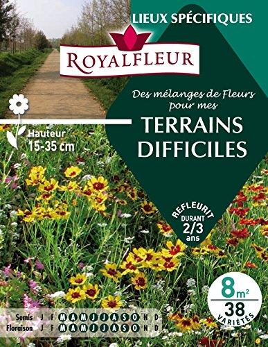 Royalfleur PFRE08699 Graines de Mélange de Fleurs mes Terrains Difficiles 8 m²
