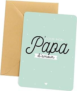 Carte papa - Pour mon papa d'amour | Carte pour papa, carte de voeux papa, carte fête des pères