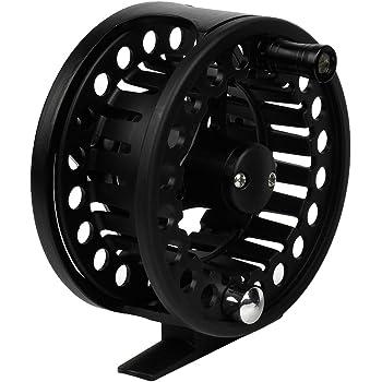 "Andux Aluminium Bobine moulinets Mouche de pêche Fly Fishing Reel 3 3/8"" Grande Arbor 7/8 85mm FL-03 Noir"