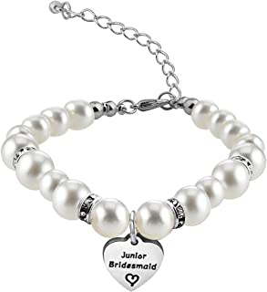 Zuo Bao Bridesmaid Jewelry Gift Crystal Pearl Bracelet for Chief/Junior Bridesmaids