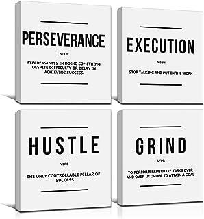 JUSTBR Motivational Posters Inspirational Wall Art Canvas Paintings Motivation Attitude Picture Prints Art Entrepreneur Qu...