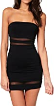 Sue&Joe Women's Tube Dress Mini Bodycon Tight Fitted Bandeau Short Pencil Dress