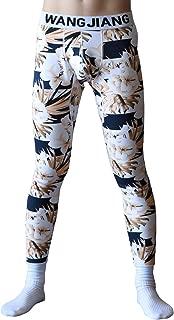 Men's Low Rise Winter Thicken Thermal Pant Plus Cotton Velvet Lined Warm Long Johns