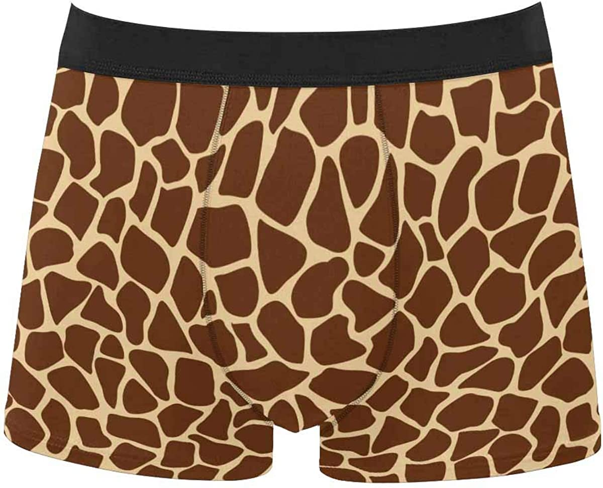 InterestPrint Men's All Over Print Boxer Stretch Underwear Shorts Underpants Bright Colorful Cute Owls