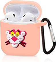 Airpods Case, Dolopow AirPods Accessories Shockproof Protective Premium Silicone Cover Skin for AirPods Charging Case 2 & 1 - Pink Panther