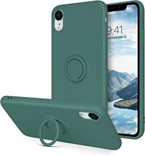 BENTOBEN iPhone XR Case, Slim Silicone Cover with 360° Ring Holder Kickstand for Magnetic Car Mount Anti-Scratch Non-Slip ...