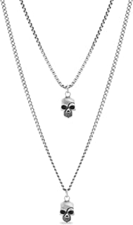 Best mens silver skull necklace Reviews