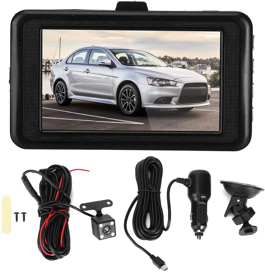 Car DVR 3in LCD HD Max 41% OFF 5MP Night Degree NEW before selling Camera Double Vision Re 105