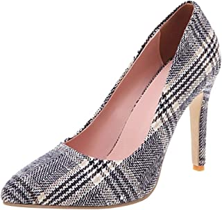 Slenderer Women Fashion Pumps Stiletto Heels Animal Print