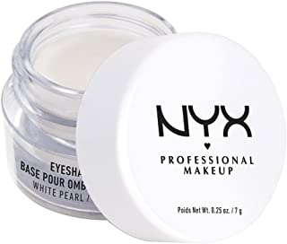 NYX Professional Makeup Eyeshadow Base, White Pearl, 0.25 Ounce