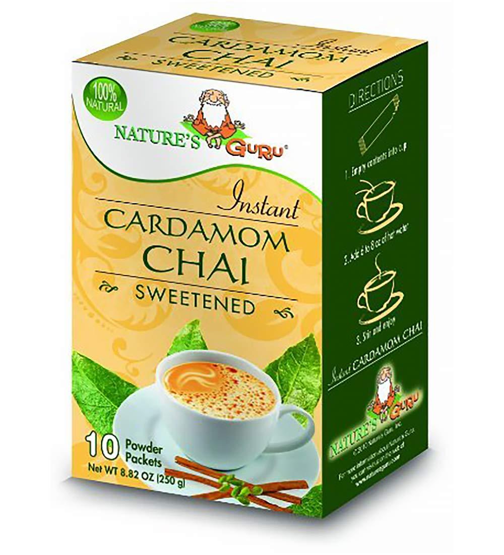 Finally resale start Nature's Guru Instant Cardamom Chai 10 Sweetened Tea Drink Mix At the price