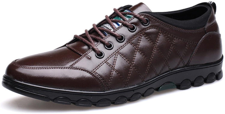 GTYMFH Herren-Mode Freizeit Lace-up Einzigartige Handgefertigte Leder Schuhe Komfortable Formal Schuhe  | Zarte