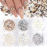 Best Nail Glitters - Holographic Nail Art Sequins Glitter Kits 6 Boxes Review