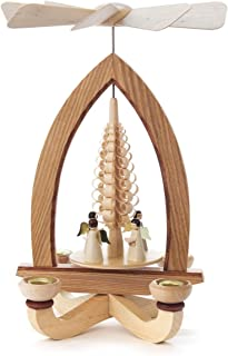 1-tier German Christmas Pyramid - German Christmas Angels - 28cm / 11 inch - Dregeno Seiffen