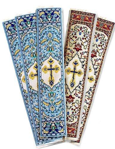 Conjunto de 5Paño de regalo religiosa tapiz marcapáginas con una paloma espíritu santo religioso 9Inch