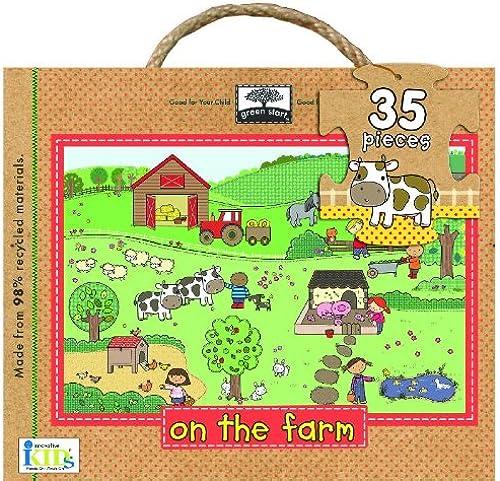 Innovative Kids Grün Start Item 35 OverGrößed Piece On The Farm Floor Puzzle