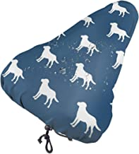 MSACRH Waterproof Bike Seat Cover Labrador Silhouettes Unisex Protective Water Resistant Bicycle Saddle Rain Sun Cover for...