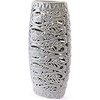 Amazon Com Zuo Leaves Vase Large Gray Home Kitchen