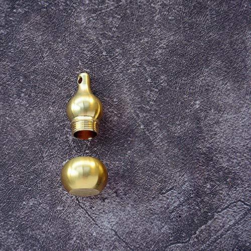 LEV Figurines & Miniatures - Mini Brass Gourd Statue Ornament Pendant Bless Peace Pocket Figurines Home Office Desk Decorative Ornament Key Pendant Toy Gift - by 1 PCS