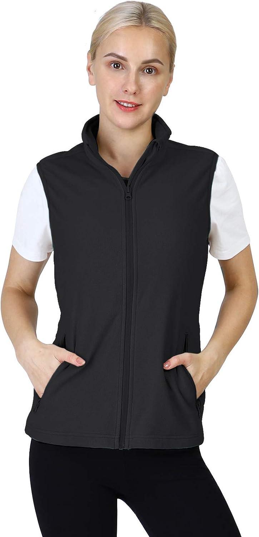 Outdoor Ventures Women's Fleece Vest, Zip Up Lightweight So