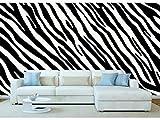Fotomural Vinilo Pared Estampado Piel Cebras Blaco y Negro | Fotomural para Paredes | Mural | Vinilo Decorativo | Varias Medidas 150 x 100 cm | Decoración comedores, Salones, Habitaciones.
