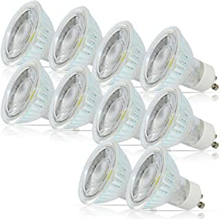 Dimmable Gu10 LED 5 Watt, Dimmable MR16 LED Bulbs, 120° Beam Angle, High Power 40W Equivalent, 6000K Daylight Cool White Light Bulbs, Pack of 10 Units