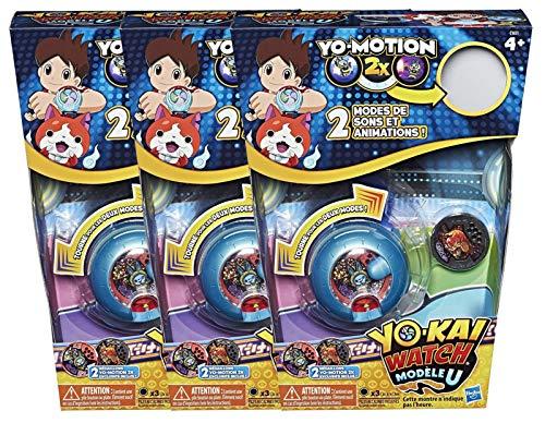 Yo-kai Watch Pack de 3 Montres à Double Projection Modèle U (Saison 3)