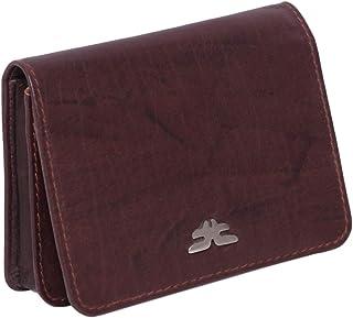 Laveri Genuine Leather Credit Card Holder Wallet Multiple Card Holder Wallet for Unisex - Leather, Brown
