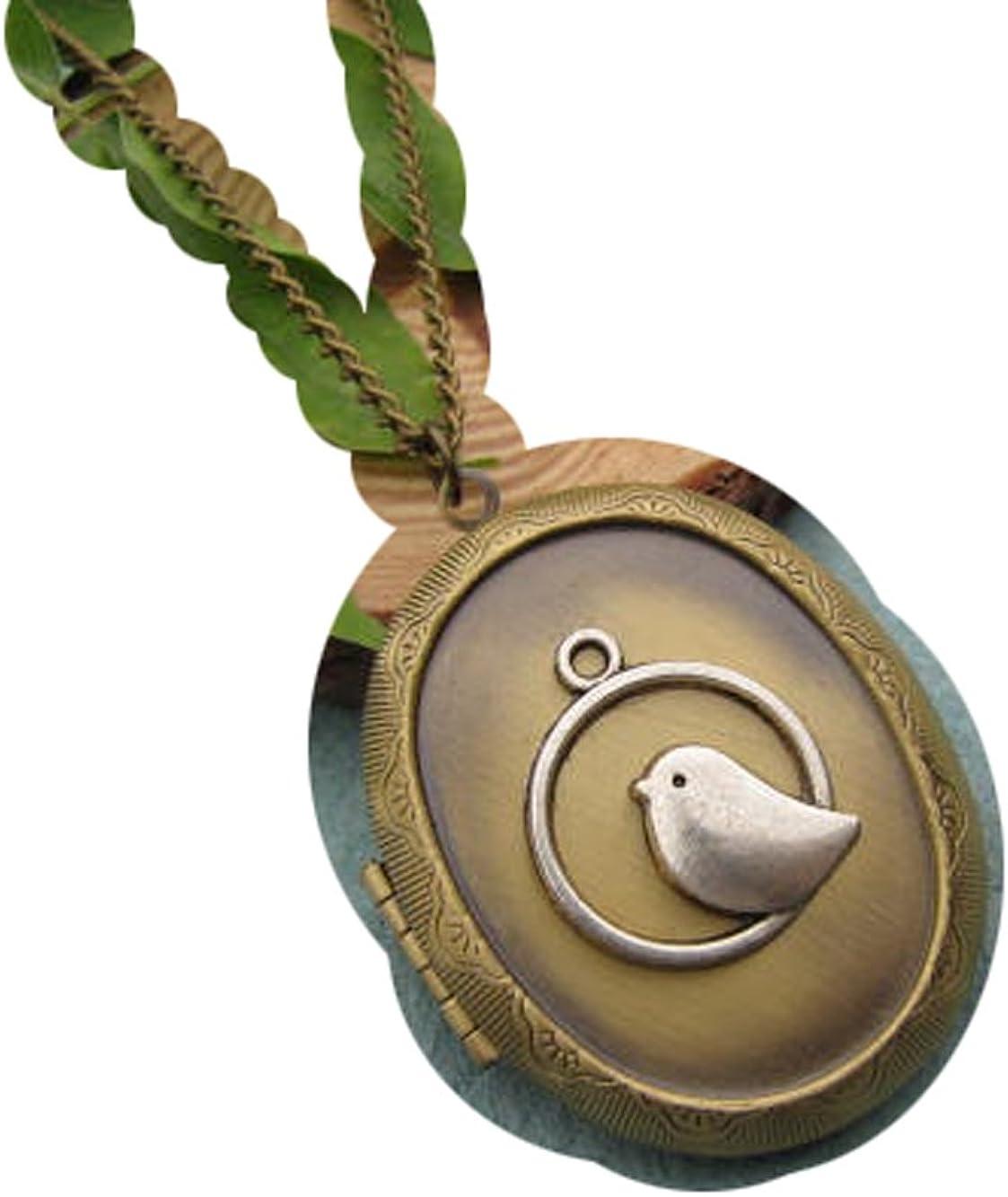 Bird Locket Necklace - Bird Pendant - Bird Jewelry Locket