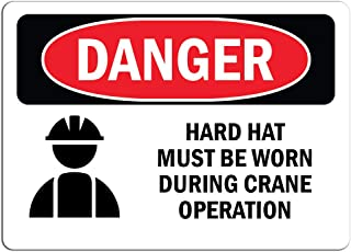 7 x 10 LegendCaution Hard HAT and Eye Protection Required in This Area Adhesive Vinyl Accuform MPPE416VS Sign Black on Yellow LegendCaution Hard HAT and Eye Protection Required in This Area 7 x 10 7 Length x 10 Width x 0.004 Thickness