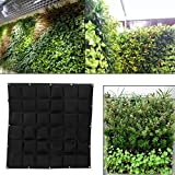 Potato Grow Bags, Sonnenschutz Hanging Ungiftig Biologisch abbaubar Save Space Grow Bags, für Balkongarten für Familiengarten(black)