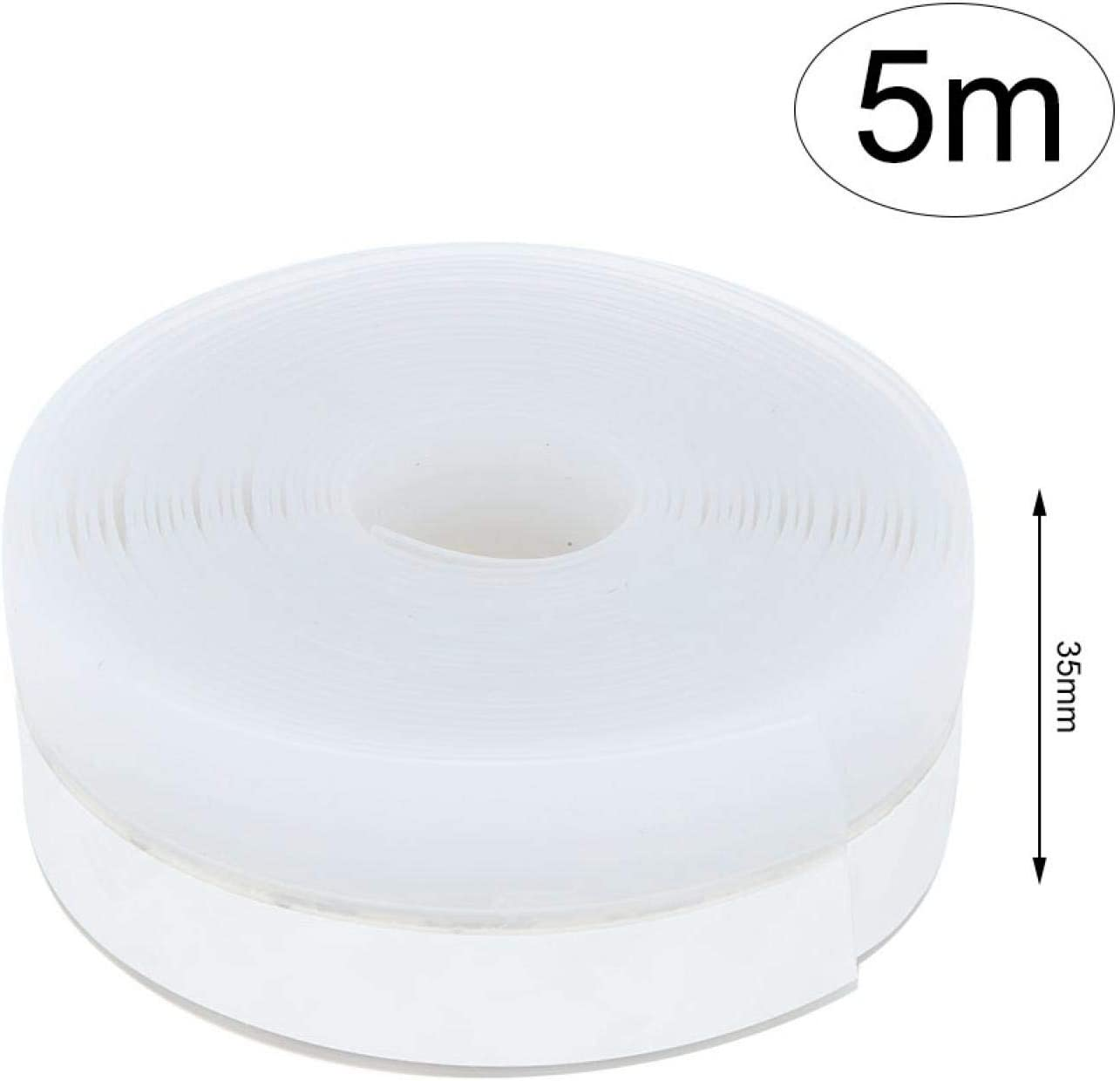 for Sliding Doors DAUERHAFT Ultra-Thin and Ultra-Soft Self Adhesive Draught Excluder Stick Firmly Silicone Seal Soundproof for Cupboards 35mm5m White//Beige Random