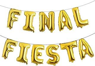 16 inch Final Fiesta Cursive Foil Balloons Banner Balloons Fiesta Theme Bridal Shower,Baby Shower,Wedding,Birthday,Bachelo...