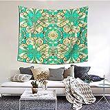 kThrones Tapiz de Pared,Elementos Dorados Tapestry (Colgante de Pared) Decoración de Pared Mural del hogar para Dormitorio Sala de Estar 152cmx130cm