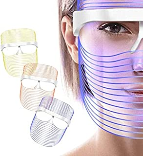 Australove 3 Colors LED Face Mask Red Light Therapy Facial Photon for Healthy Skin Rejuvenation, Collagen, Anti Aging, Wri...