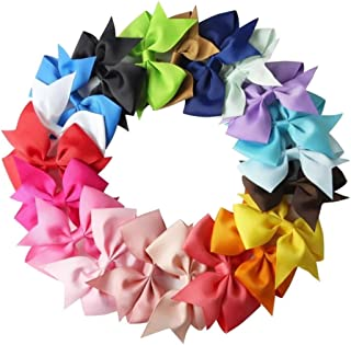 043f61549f81 carsget US Stock 10pcs Girls Ribbon Bow Hair Clip Kids Alligator Clips  Party Hair Accessories Facial
