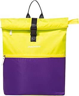 HICCUPfish Gym Bag Dry Wet Separated Duffel Bag Swimming Sackpack for Man and Women (Yellow-Purple)