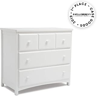 Delta Children 3 Drawer Dresser, White