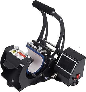 Qioni Mug Heat Press Machine, LED Touch Screen Digital Display Heat Press Machine Mug Transfer Machine with Auto-Sensing Countdown/Temperature Correction/Quantitative Statistics(US Plug 110V)