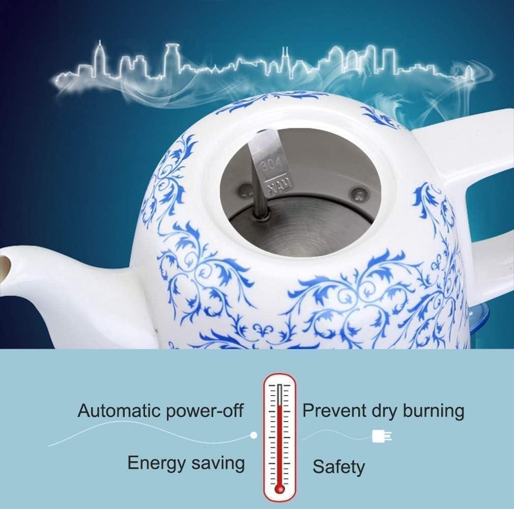 Leilims Bouilloires en céramique Bouilloire électrique sans Fil Eau Teapot, Teapot-rétro 1.2L Jug Rapide (Color : A) A