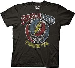 Ripple Junction Grateful Dead Adult Unisex Tour 74 Vintage Light Weight 100% Cotton Crew T-Shirt